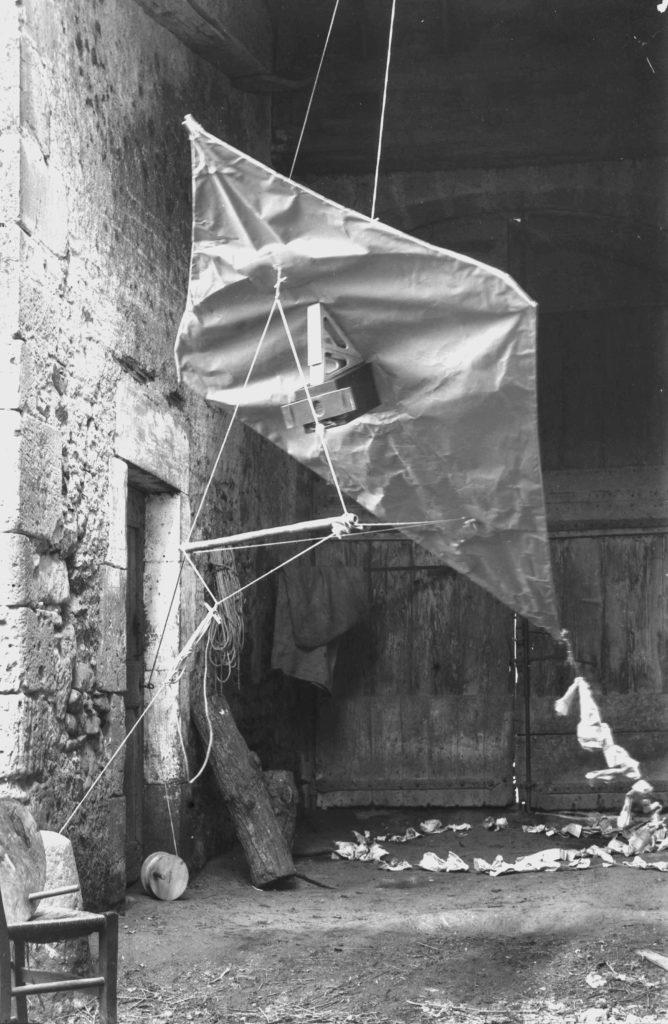 Le cerf-volant d'Arthur Batut, photographié par lui-même
