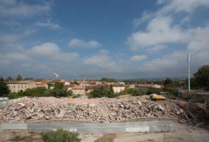 tour des jardins du Barri pendant destruction